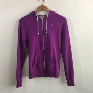 NIKE Purple Full Zip Hoodie Size M